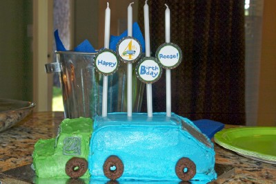 Garbage Truck Cake