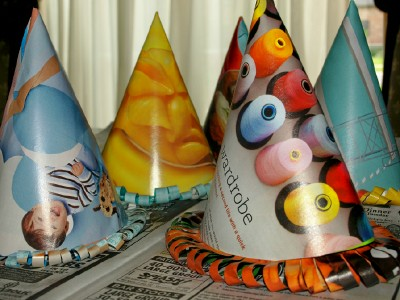 Garbage Party Hats