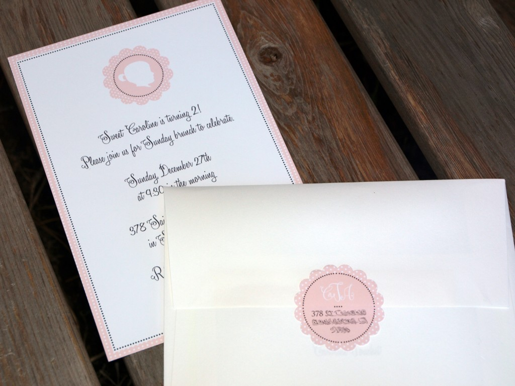 invite and return address outside