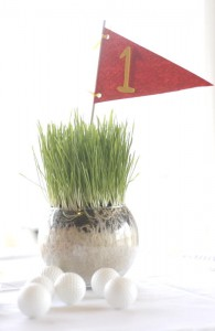 Pin and Cup Golf Centerpieces