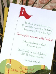 Hole-In-One Party Invtation