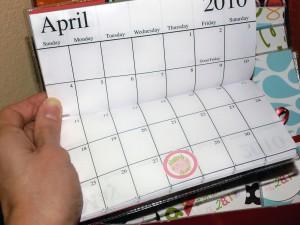 calendars inside shot