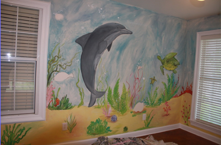 under the sea wall mural image search results. Black Bedroom Furniture Sets. Home Design Ideas