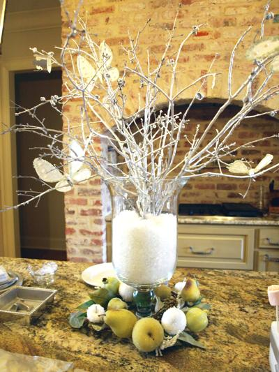 Winter branches centerpieces