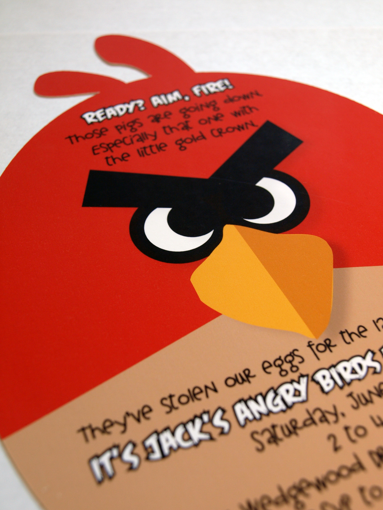 Angry Birds Splash Party – Angry Birds Party Invitations