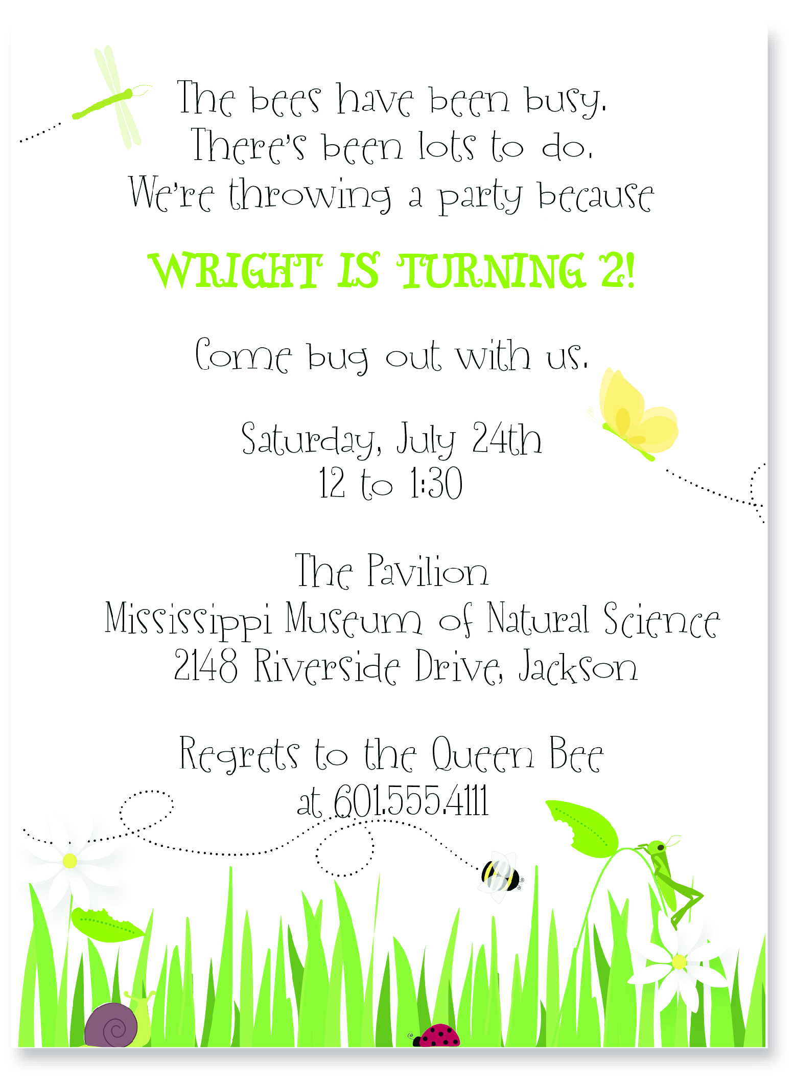 Bug-Themed Party Invitations | Pink Peppermint, the blog