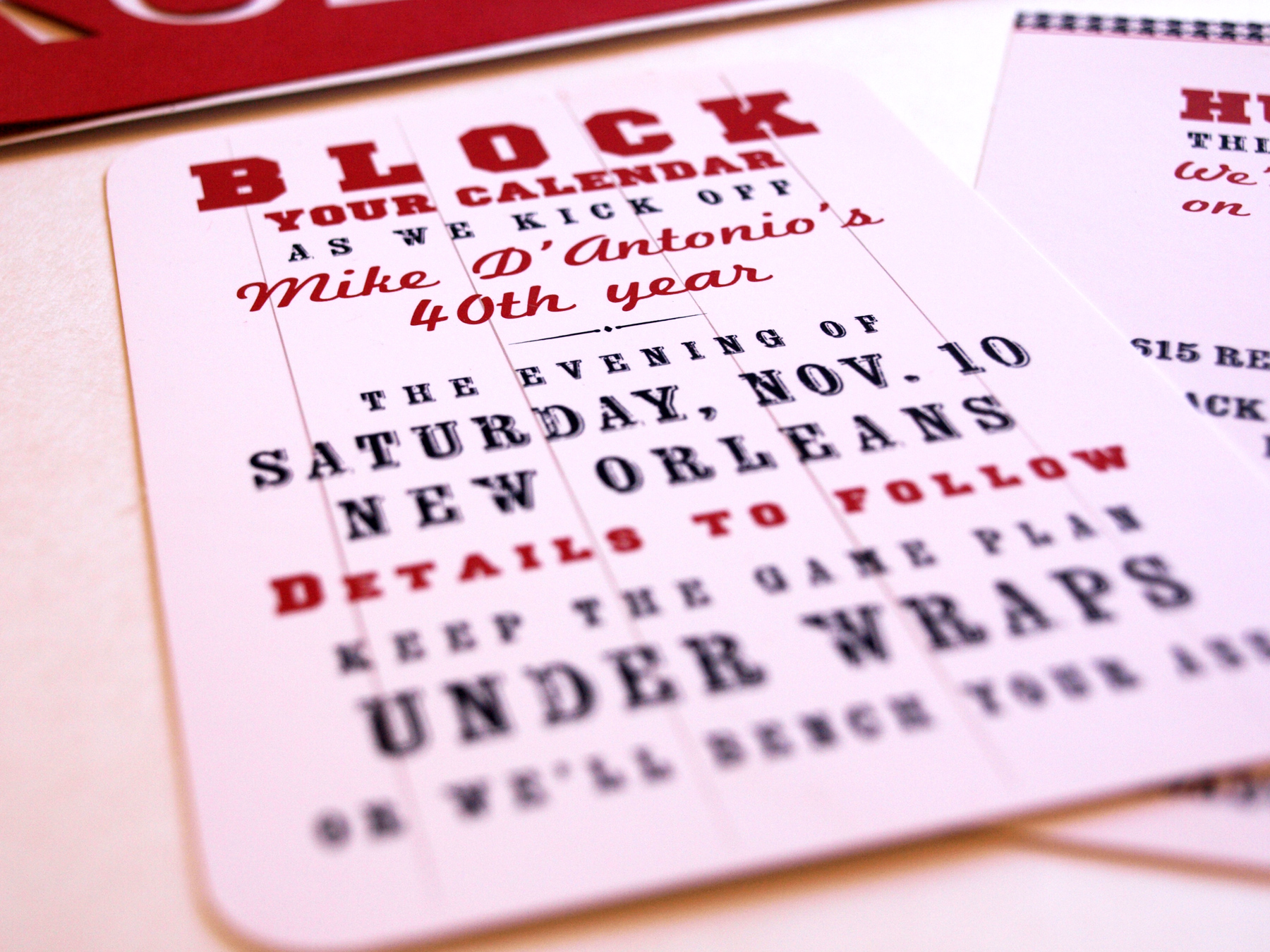birthday party save the date cards