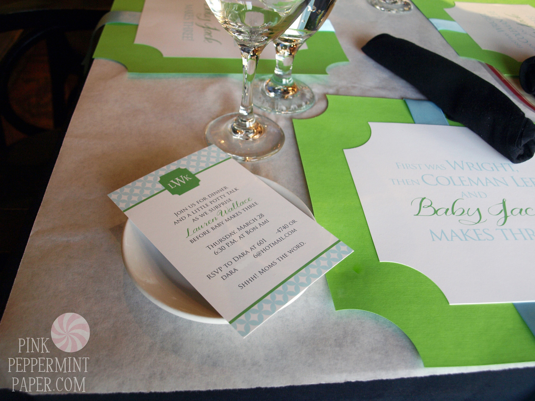 the guest of honor s place was set with a copy of the invitation