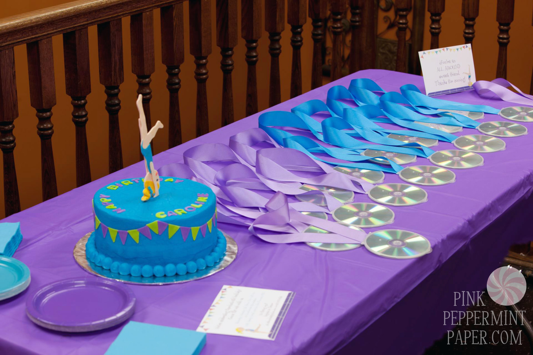 Gymnastics Birthday Party – Flippin' Out | Pink Peppermint ...