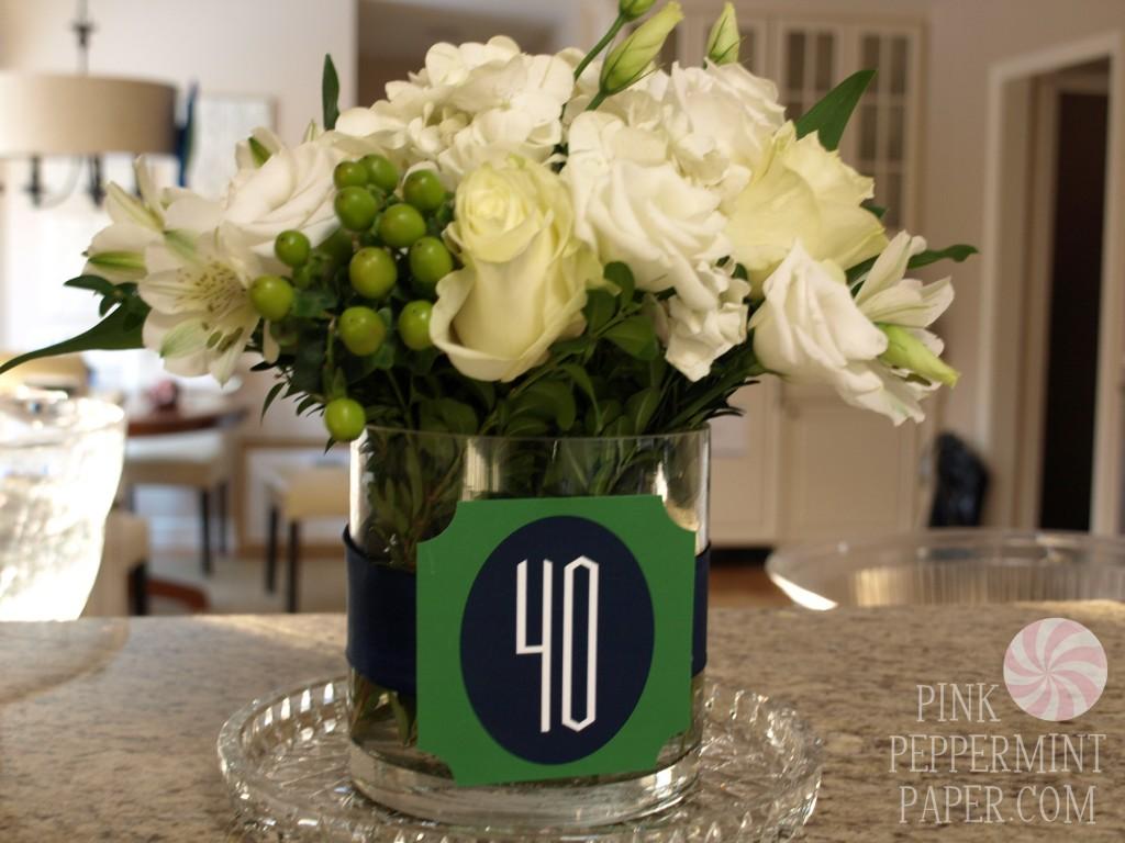 40th Birthday Flowers on PinkPeppermintPaper.com