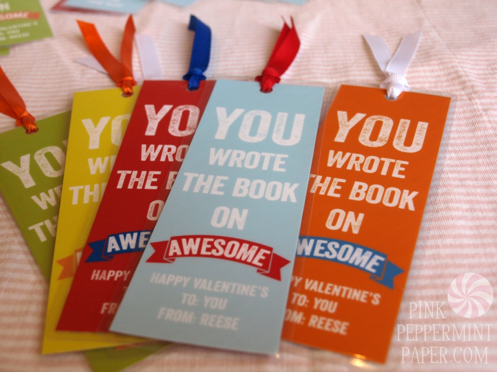 Valentines Day Bookmarks by Pink Peppermint Paper, LLC.