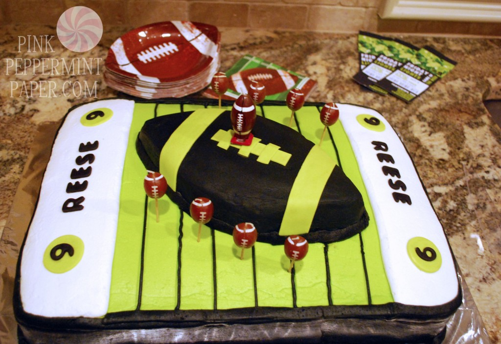Football Cake on PinkPeppermintPaper.com