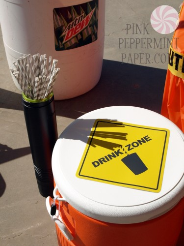 Drink Zone Signage by PinkPeppermintPaper.com
