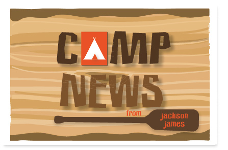 Camp News Postcard by PinkPeppermintPaper.com