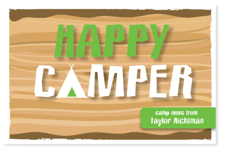 Happy Camper Postcard by PinkPeppermintPaper.com