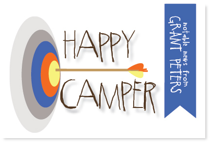 Bullseye Archery Camp Postcard by PinkPeppermintPaper.com