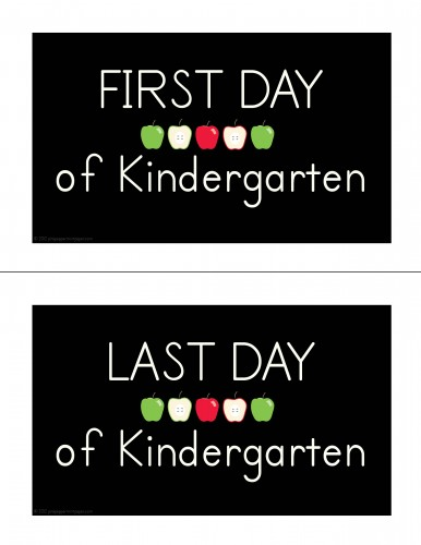 first day last day picture signage sample