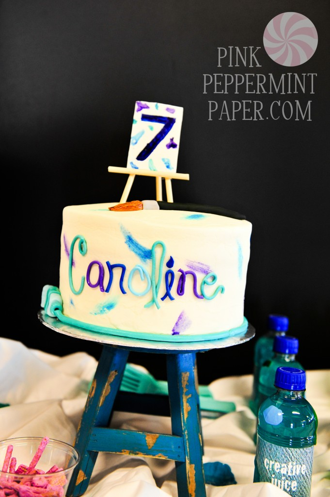 Art-themed Cake on Pink Peppermint, the Blog