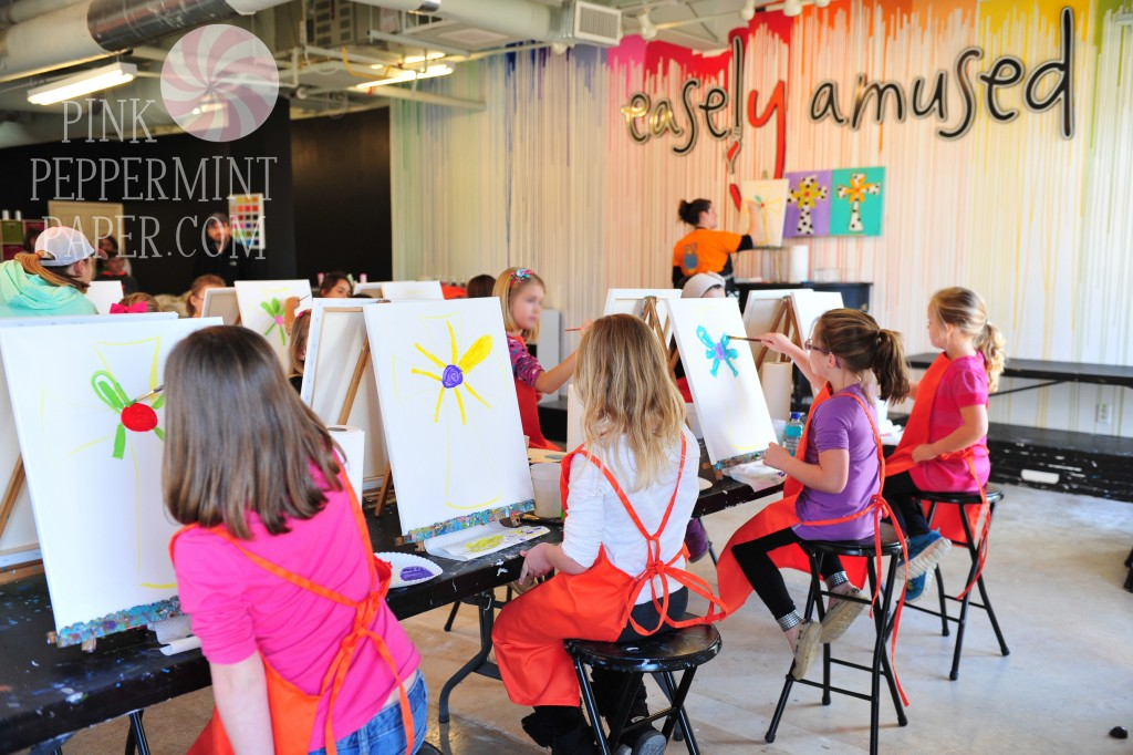 Painting Activity from Pink Peppermint, the blog